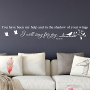 Psalm 63:7 Vinyl Wall Decal 1