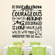 Joshua 1:9 Vinyl Wall Decal 23