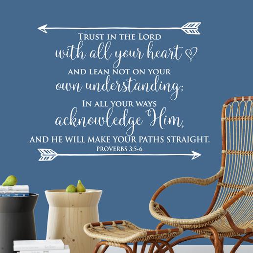 Proverbs 3:5-6 Vinyl Wall Decal 6
