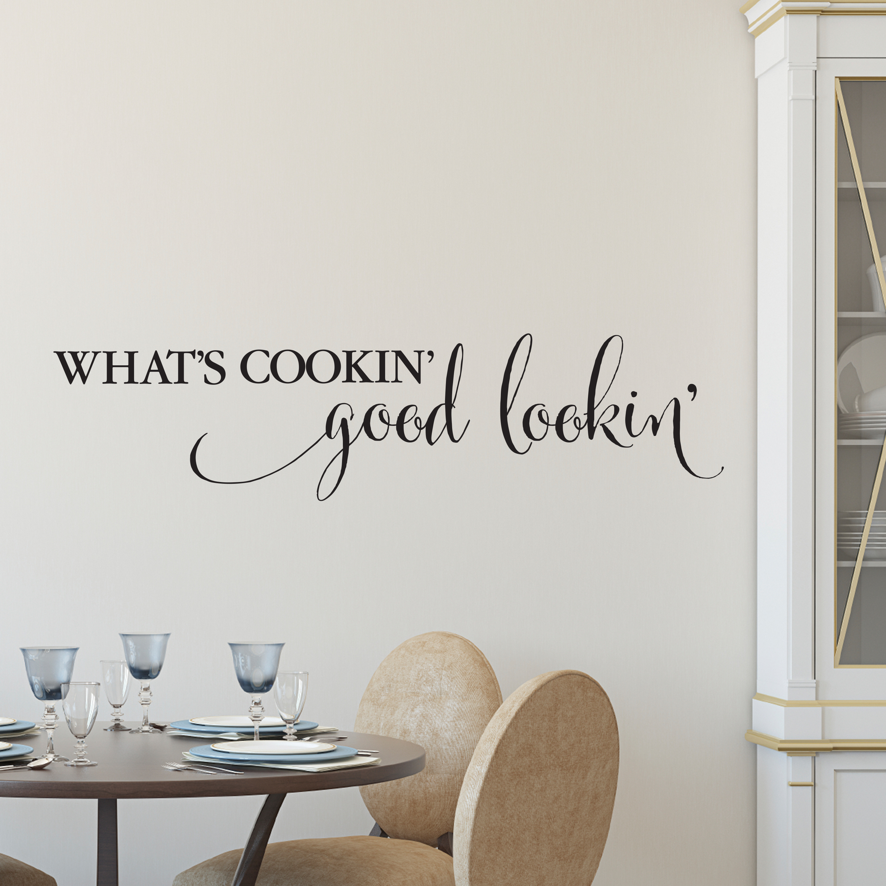 What S Cookin Good Lookin Vinyl Wall Decal By Wild Eyes Signs Kitchen Lettering Dining Room Art Entry Way Funny Kitchen Nook Saying Hh2067