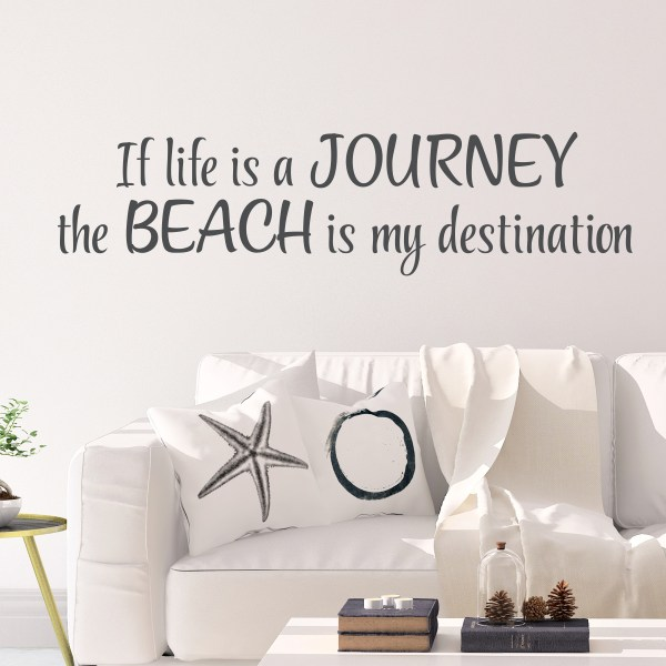 If life is a journey the beach is my destination Vinyl Wall Decal