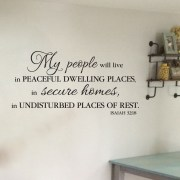 Isaiah 32:18 Vinyl Wall Decal 1
