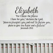 Jeremiah 29v11 Vinyl Wall Decal 6