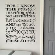 Jeremiah 29v11 Vinyl Wall Decal 9