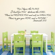 Jeremiah 29v11 Vinyl Wall Decal 10