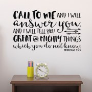 Jeremiah 33v3 Vinyl Wall Decal