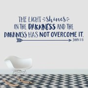 John 1v5 Vinyl Wall Decal 1 The light shines