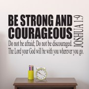 Joshua 1v9 Vinyl Wall Decal 2