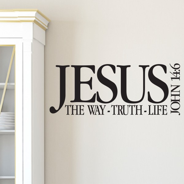 John 14v6 Vinyl Wall Decal 1