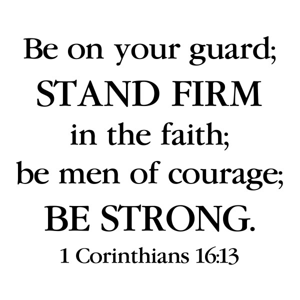 1 Corinthians 16v13 Vinyl Wall Decal 8