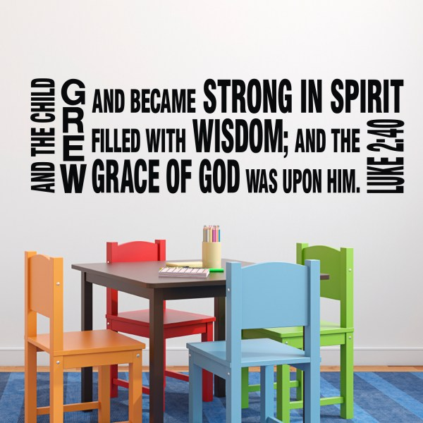 Luke 2v40 Vinyl Wall Decal 1