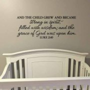 Luke 2v40 Vinyl Wall Decal 4