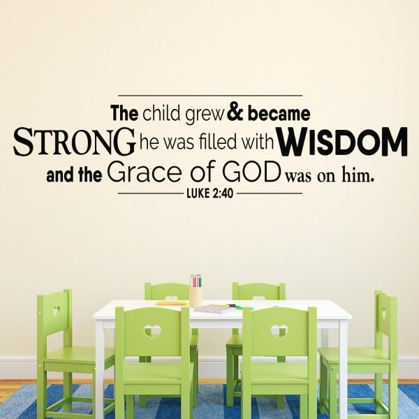 Luke 2v40 Vinyl Wall Decal 7