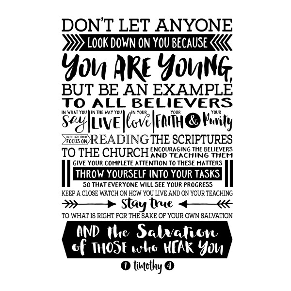 1 Timothy 4v12 Vinyl Wall Decal 8