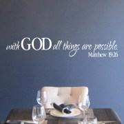 Matthew 19v26 Vinyl Wall Decal 1