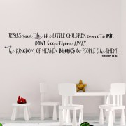 Matthew 19v14 Vinyl Wall Decal 1
