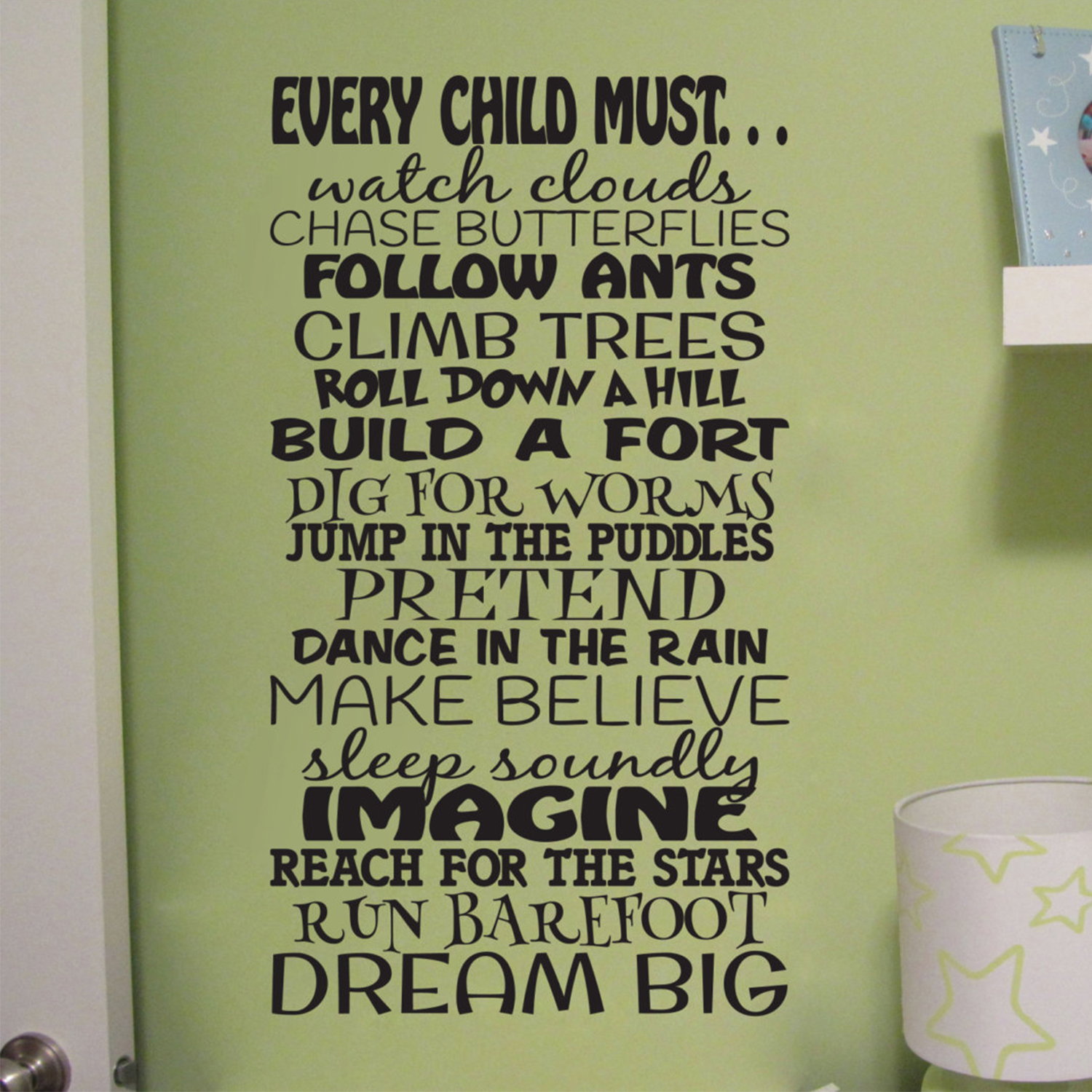 Every Child Must Dream Big Vinyl Wall Decal by Wild Eyes Signs, Children  Subway Art, Boys Room, Toddler Bedroom, Playroom Decal, Family Room,  Nursery