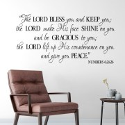 Numbers 6v24-26 Vinyl Wall Decal 1