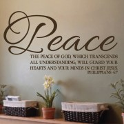 Philippians 4v7 Vinyl Wall Decal 1