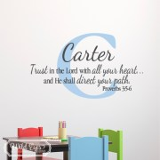 Proverbs 3v5-6 Vinyl Wall Decal 2