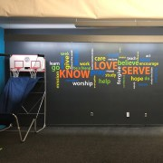 Know Love Serve Word Collage Vinyl Wall Decal