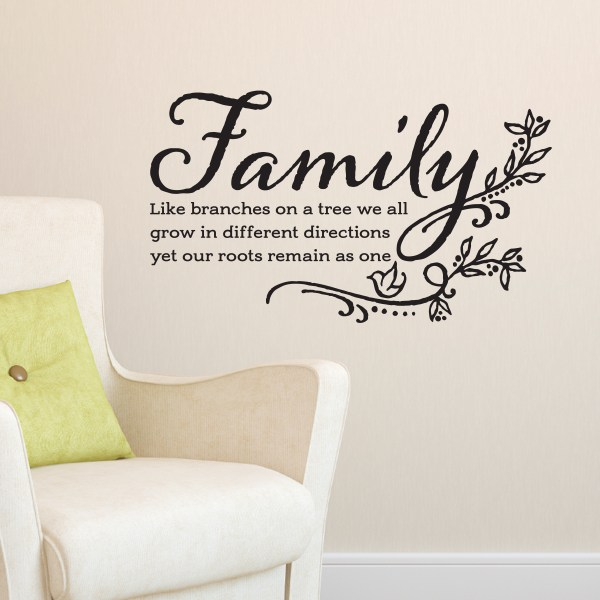 Family Like Branches on a Tree Vinyl Wall Decal