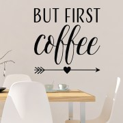 But First Coffee Vinyl Wall Decal