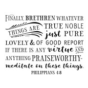 Philippians 4v8 Vinyl Wall Decal 5