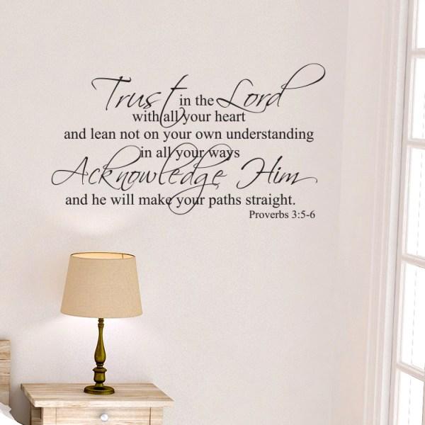 Proverbs 3v5-6 Vinyl Wall Decal 7