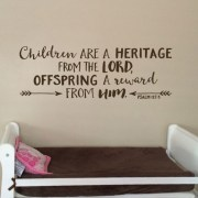 Psalm 127v3 KJV Vinyl Wall Decal 5