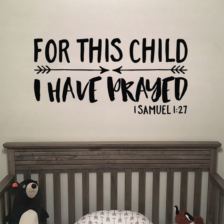 1 Samuel 1 27 I Prayed For This Child Anda Vinyl Decal Sticker Quote Medium Orange Walmart Com Walmart Com