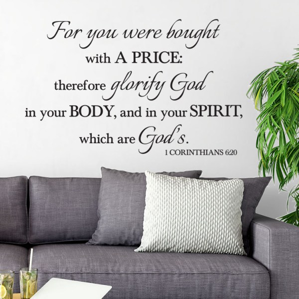 1 Corinthians 6v20 Vinyl Wall Decal