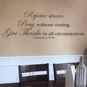 1 Thessalonians 5v16-18 Vinyl Wall Decal 5