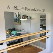 She Believed She Could So She Did Vinyl Wall Decal 3