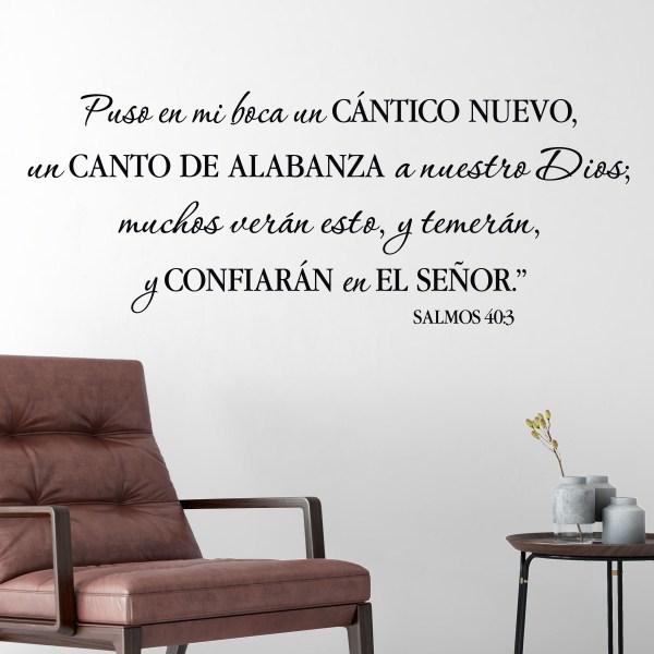 Psalm 40v3 Spanish Vinyl Wall Decal