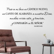 Psalm 40v3 Spanish Vinyl Wall Decal