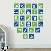 Alphabet Letter Blocks Set 4 Vinyl Wall Decal