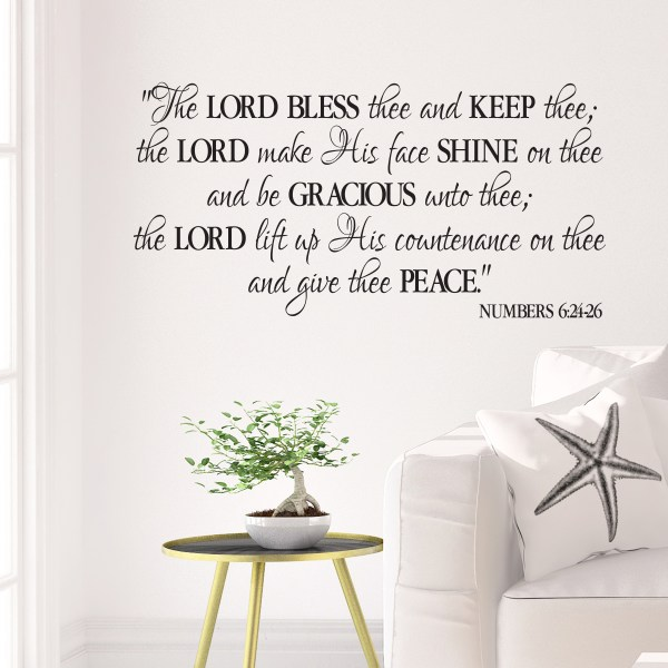 Numbers 6v24-26 Vinyl Wall Decal 6