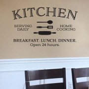KITCHEN Serving Daily Home Cooking Vinyl Wall Decal
