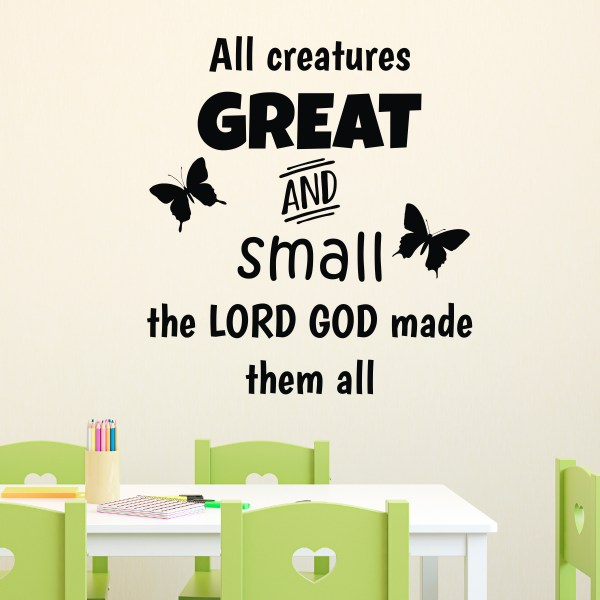 All Creatures Great and Small Vinyl Wall Decal 2