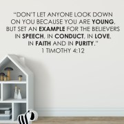 1 Timothy 4v12 Vinyl Wall Decal 3