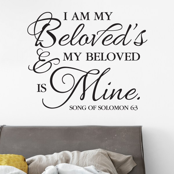Song of Solomon 6v3 Vinyl Wall Decal