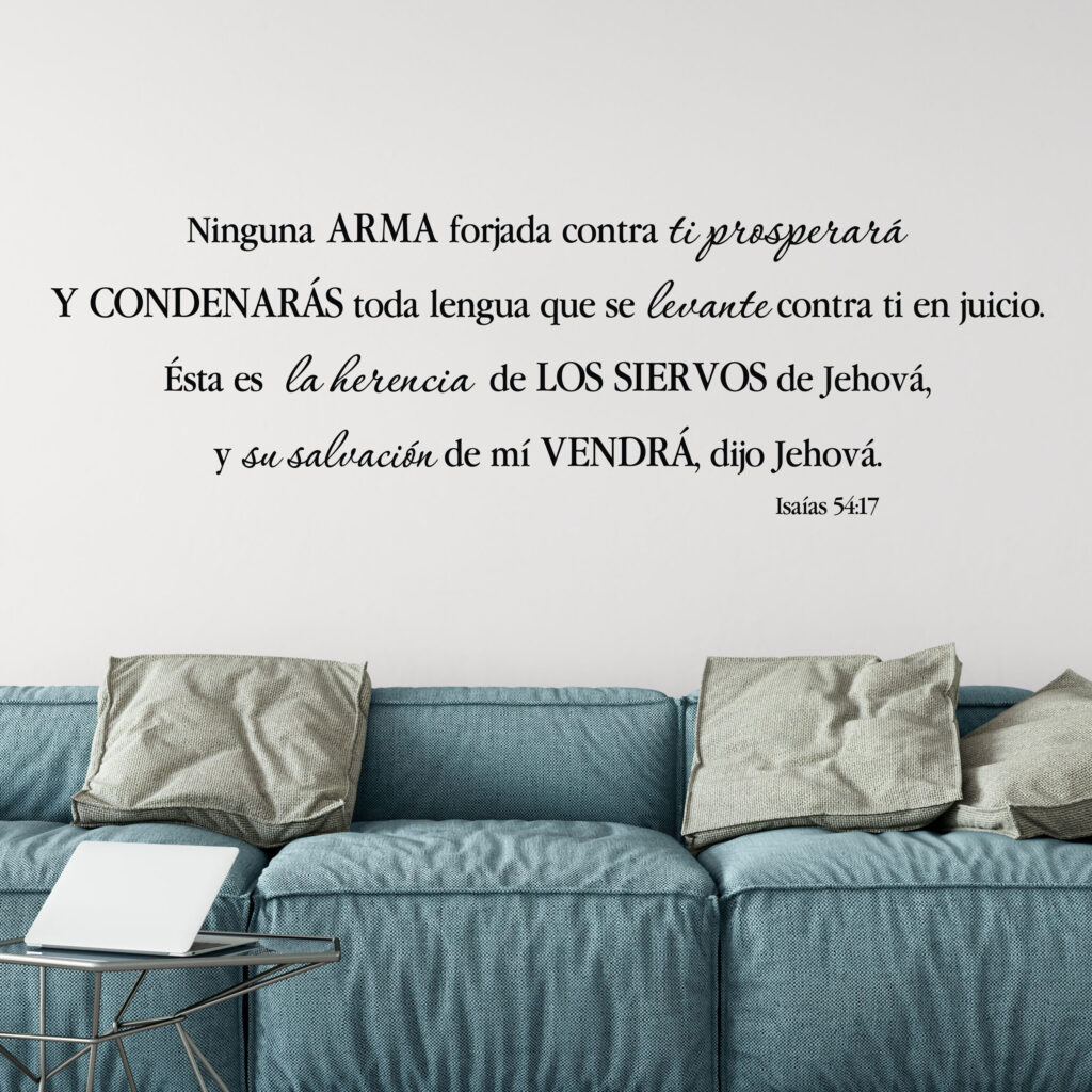 Isaiah 54v17 Spanish Vinyl Wall Decal Isaas 5417