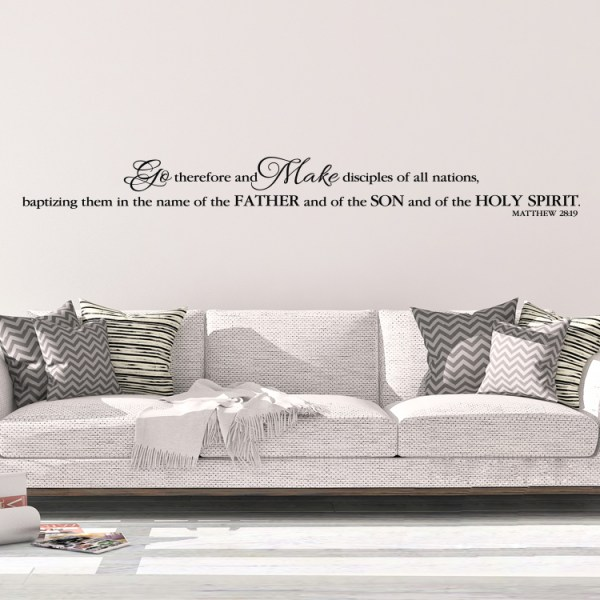 Matthew 28V19 Vinyl Wall Decal