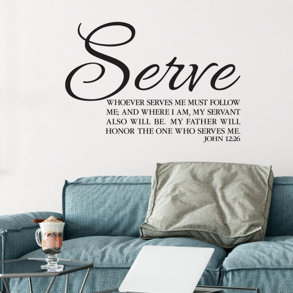 John 12v26 Vinyl Wall Decal