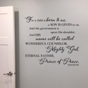Isaiah 9v6 Vinyl Wall Decal