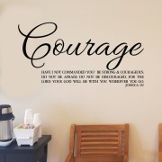Joshua 1v9 Vinyl Wall Decal 47