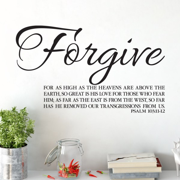 Psalm 103v11-12 Vinyl Wall Decal