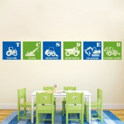 6 Construction Blocks Vinyl Wall Decal
