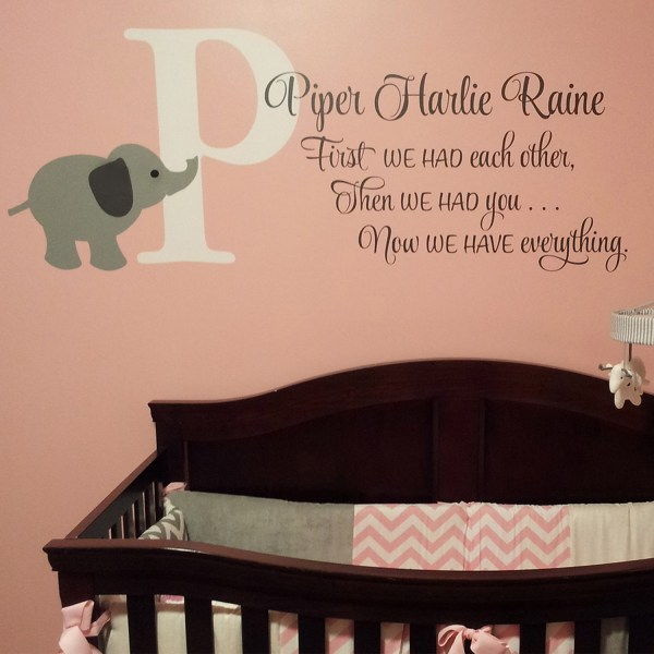 First We Has Each Other Then We Had You Vinyl Wall Decal